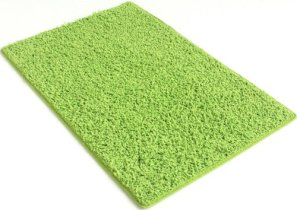 6x9 Area Rug. Bright Green carpet. 37 oz TWISTED SHAG FRIEZE Very THICK, PLUSH and LUXURIOUS