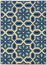Granville Rugs Coastal Indoor-Outdoor Area Rug, Blue, 6 ft 7in x 9 ft 6in