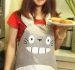 Hayao Miyazaki Totoro Gray Apron