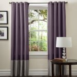 Lush Decor Prima Curtain Panel Pair, 54-Inch by 84-Inch, Gray Purple