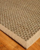 NaturalAreaRugs Lancaster  Castaway Seagrass Rug - Sage Khaki, Handcrafted, Cotton Border, Non-Slip Latex Backing...