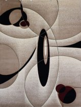 New City Brand New Contemporary Brown and Beige Modern Wavy Circles Area Rug 9 x 12ft5