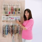 Overdoor Wall Jewelry Organizer in White By Longstem - Unique patented product - Rated Best