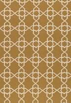 Pasargad Sahara Collection Decorative Handmade Wool Flat Weave Area Rug - Gold-Ivory 6x9