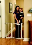 Regalo Easy Step Walk Thru Gate, White, Pressure Mount