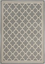 Safavieh Courtyard Collection CY6918-246 Grey and Beige Indoor-Outdoor Area Rug, 9-Feet by 12-Feet 6-Inch