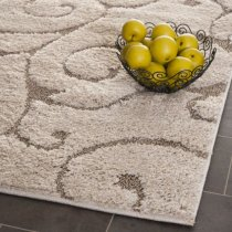 Safavieh Florida Shag Collection SG455-1113 Cream and Beige Shag Area Rug, 8-Feet by 10-Feet