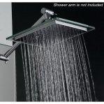 AKDY (TM) Bathroom Chrome Shower Head 8 inch AZ6021 Rain Style