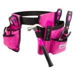 Cala Tools KDE8TBS Tool Set with Tool Belt, Pink, 7-Piece