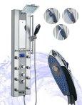 FIREBIRD Aluminum Thermostatic Shower Panel W Massage Spout Spray FBAK-81326V