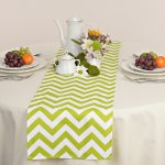Green Apple Chevron Zig Zag Table Runner