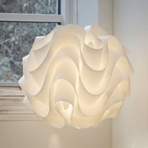 Nuevo Meringue Modern Ceiling Suspension Lamp with Waved Layers