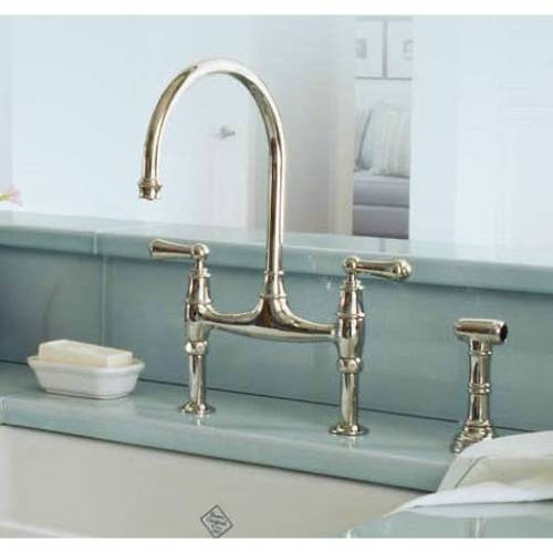 Rohl U.4719L PN 2 Perrin And Rowe Bridge Style Kitchen Faucet With