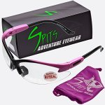 Spits Cougar BIFOCAL Safety Glasses - Pink Black Frame - Clear 1.50 Magnifier