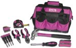 The Original Pink Box PB30TBK 12-Inch Tool Bag and 30-Piece Tool Set, Pink