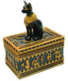 Ancient Egyptian Bastet Cat Trinket or Jewelry Box New Gift