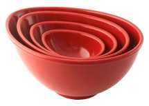 BlissHome Nigella Lawson's Living Kitchen Melamine Mixing Bowls, Red, Set of 4