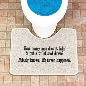 funny toilet rug