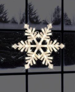Impact Innovations Christmas Lighted Window Decoration, Snowflake