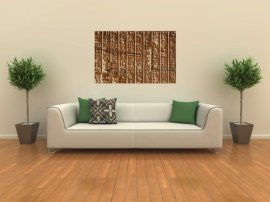 "Ancient Egyptian Hieroglyphics - 36""W x 23""H - Peel and Stick Wall Decal by Wallmonkeys"