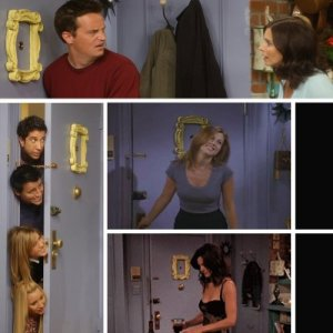 Yellow Peephole Frame as seen on Friends