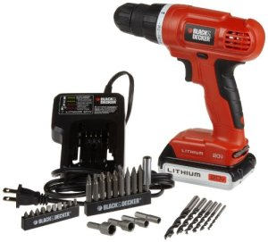 Black and Decker LD120VA 20-Volt MAX Lithium-Ion Drill-Driver with 30 Accessories