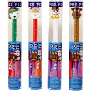 Christmas Holiday PEZ Dispenser with 6 refills - One - Styles May Vary