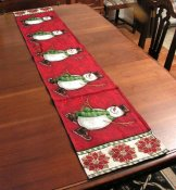 Christmas Holiday Table Runner Snowman 13 x 72 inches