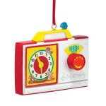 Department 56 Fisher Price Radio Clock Ornament, 2.8-Inch