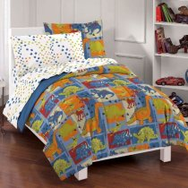 Dinosaur Blocks Boys Ultra Soft Microfiber Comforter Set