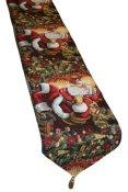 Holiday Christmas Santa Claus Design 13 X 70 Table Runner