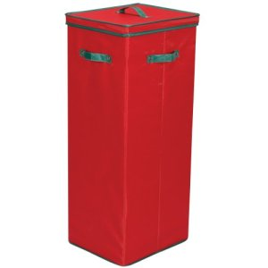 Household Essentials Holiday Storage Box, Red with Green