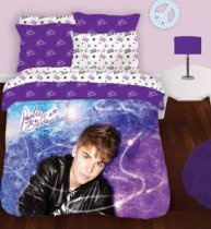 Justin Bieber Starburst Comforter and Sham Full 3 piece set