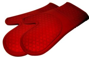Kitchen Elements Ultra-Flex Red Silicone Kitchen Cooking Mitt, 1 Pair