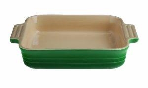 Le Creuset Stoneware 1.5 Quart 9-Inch Square Baking Dish, Fennel