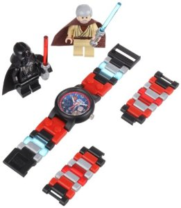 LEGO Kids Star Wars Darth Vader vs. Obi-Wan Kenobi Watch With Two Minifigures
