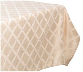 Lenox Laurel Leaf 70-by-144-Inch Oblong - Rectangle Tablecloth, Ivory