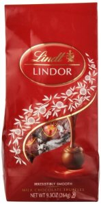 Lindt LINDOR Milk Chocolate Truffles, 9.3 Ounce
