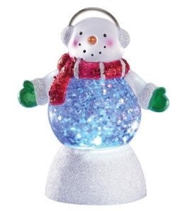 Miles Kimball Blue Glitter Buddy Mini Snow Globe