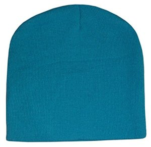 N'Ice Caps Unisex Kids Bulky Double Layered Knitted Beanie Hat (Turqoise)