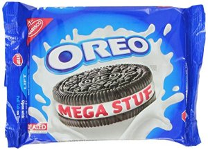 Oreo Mega Stuffed Chocolate Cookies, 13.2 Ounce