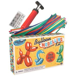 Ridley's Retro Balloon Twisting Modelling Kit With Hand Pump-32 Balloons