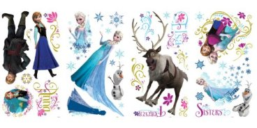 RoomMates RMK2361SCS Frozen Peel and Stick Wall Decals, 36 Count