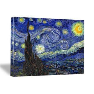 Starry Night By Vincent Van Gogh Stretched Canvas Print Gallery Wrapped 16x20