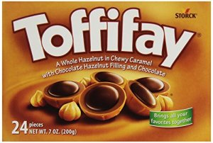 Toffifay Hazelnut in Chewy Caramel with Chocolate Hazelnut Filling and Chocolate ,( 24 Pieces 7.05 Ounce )
