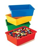 Tot Tutors Primary Colors Large Storage Bins, Set of 4