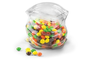 Unzipped Bag Candy Dish