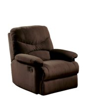 ACME 00632 Arcadia Recliner, Oakwood Chocolate Microfiber