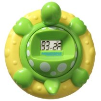 Aquatopia Deluxe Safety Bath Thermometer Alarm, Green
