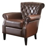 Best Selling Franklin Leather Club Chair, Brown